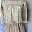 Thumbnail: Vintage cream floral chiffon dress UK12-14