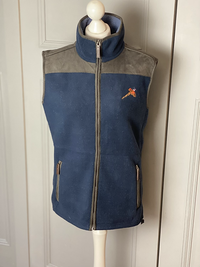 Fleece country embroidered gilet. 8-12