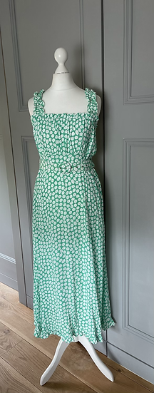 Faithful the Brand green/ white dress UK XS