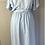 Thumbnail: Vintage baby blue dress with belt. UK12