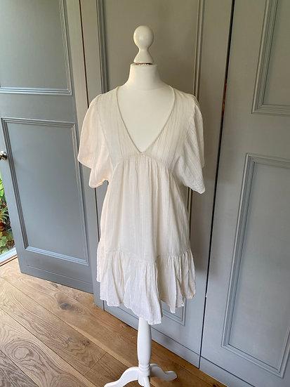 ba&sh cream linen summer dress/beach cover up  (UK6/8/10)