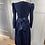 Thumbnail: Laura Ashley navy needlecord dress with belt Uk10/12