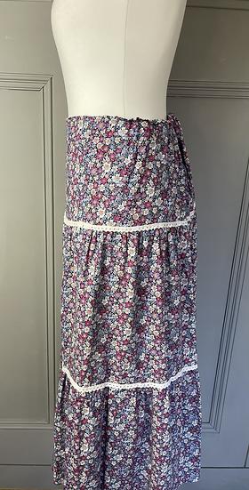 Vintage floral maxi skirt UK10-12