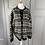 Thumbnail: Vintage Scandinavian chunky black/white cardigan. L/XL