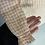 Thumbnail: Girls La Coqueta orange/white checked dress age 3