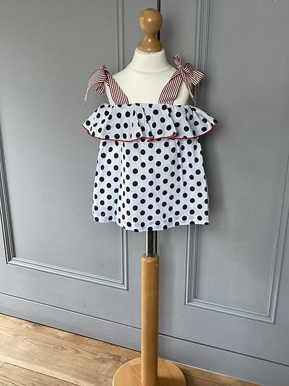 Dadati girls polka dot dress/top 24 months