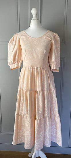 Vintage Toni Blair Blush pink cotton dress UK8-10