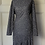 Thumbnail: Vintage navy and white polka dot dress. Uk14+