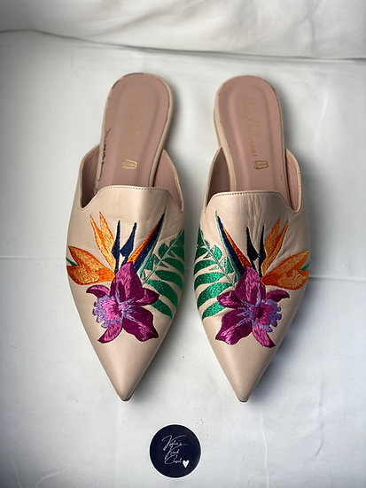 Pretty Ballerinas embroidered mules (41)