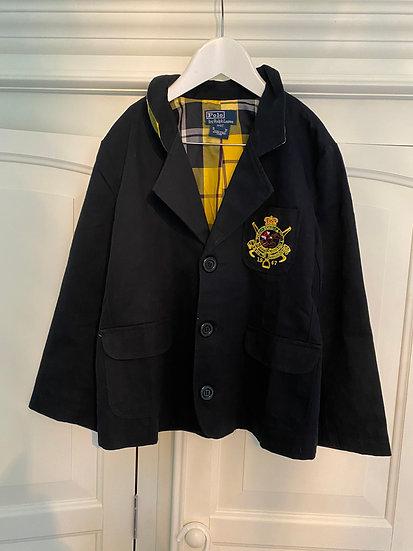 BOYS 8yrs Ralph Lauren navy blazer with show jumping crest