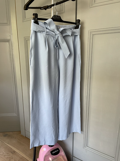 BNWT TU women's blue paper bag waist trousers Uk8/10 rrp£18