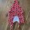 Thumbnail: Sunglass print red padded swimming costume UK L (12)
