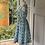 Thumbnail: Vintage 1950s blue cotton floral dress UK 6/8/10