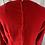 Thumbnail: Vintage bright red velvet maxi day dress Uk 12/14