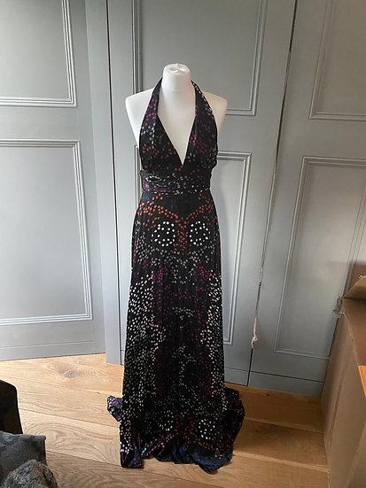 ISSA silk halter neck dress (UK12)