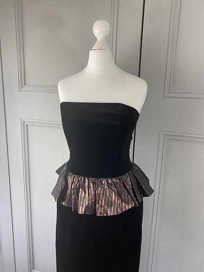 Vintage Laura Ashley velvet peplum  dress. Modern uk8/10