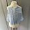 Thumbnail: Vintage St Michael girls blue and white cotton dress age 6-13 months
