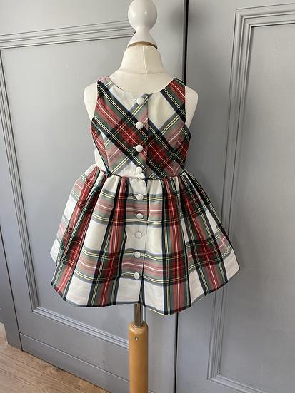 Ralph Lauren girls taffeta tartan dress. 2yrs