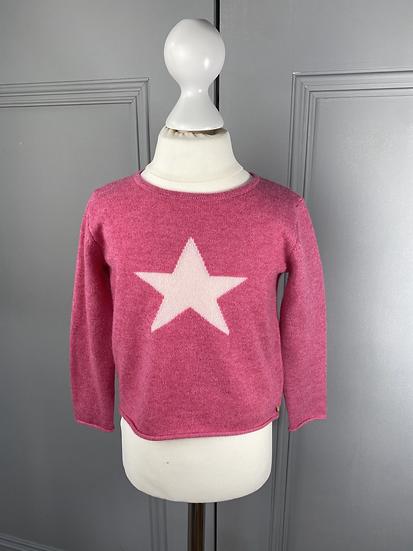 100% cashmere BABY GIRLS jumper with star 12mths