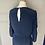 Thumbnail: Diane Von Furstenberg navy silk jumpsuit. Uk10/12