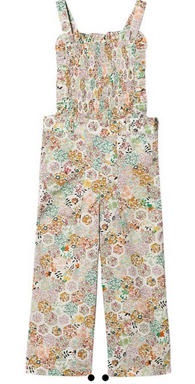 BNWT Bonpoint Liberty print girls cotton jumpsuit/dungarees 12yrs