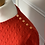 Thumbnail: J Crew red cable knit cashmere jumper with buttons