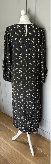 H&M black maxi dress UK M