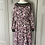 Thumbnail: Vintage 70s jersey dress with crochet detail.