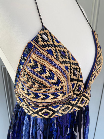 Stunning Matthew Williamson silk dress with beading (small UK 8)