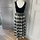 Thumbnail: Vintage M Ten black velvet/tartan skirt maxi dress. Uk10