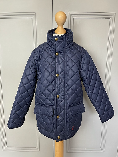 Boys Joules navy quilted jacket, age 4. Rrp£49