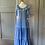 Thumbnail: Vintage cotton blue floral prairie maxi dress UK8/10/12