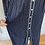 Thumbnail: Vintage navy/white cotton maxi with yellow fabric belt. Uk