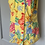 Thumbnail: Vintage yellow floral mini dress up to Uk12