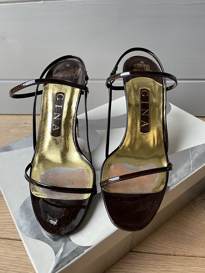 Gina darn brown leather sandals size 36