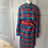 Thumbnail: Vintage 80s red checked wool dress with gold buttons. UK10/12