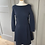 Thumbnail: Petit Bateau BNWT ladies navy quilted jersey dress. Medium