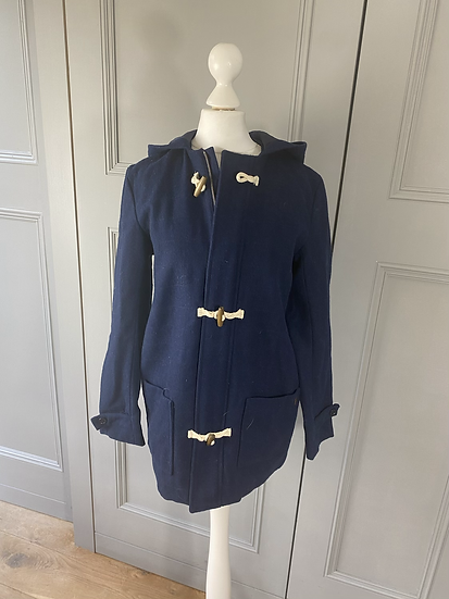 Carrement Beau navy duffle coat 12yrs/uk8/10