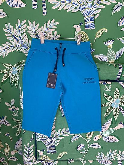 BOYS 8yrs Blue jersey shorts Aston Martin