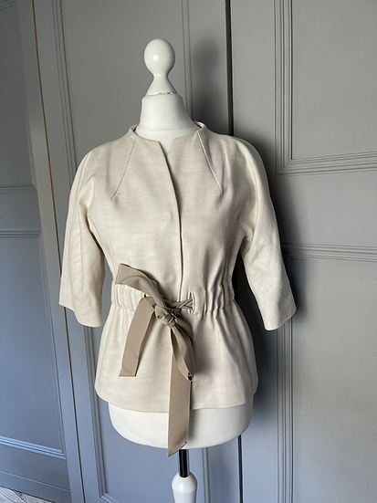 L.K Bennett Cream with tie waist jacket UK6 rrp£225
