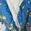 Thumbnail: Vintage Blue floral wrap dress/cover up Uk8