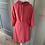 Thumbnail: Vintage 70s pink silk shift dress with beading. Uk10/12