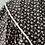 Thumbnail: Vintage 70s cotton midi dress black/white florals. 10/12/14