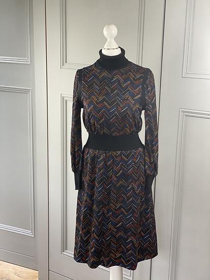Vintage Pierre Cardin roll neck dress UK8/10