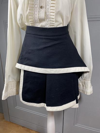 Alexander McQueen McQ black/cream wool skirt  UK8/12