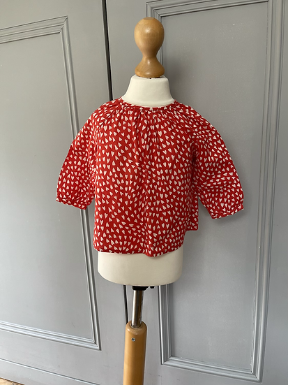 Bonpoint girls red heart long sleeve top Age 18months