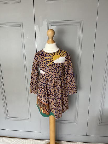 Girls Mini Boden leopard print dress age 3-4
