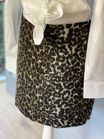 M&S BNWT leopard print wool blend mini skirt. UK16