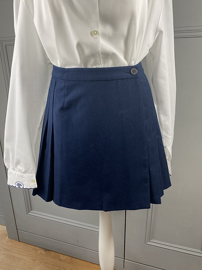 Jack Wills navy wool kilt mini skirt. UK8/10