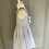 Thumbnail: Confiture (Trotters) girls blue and white striped dress age 2